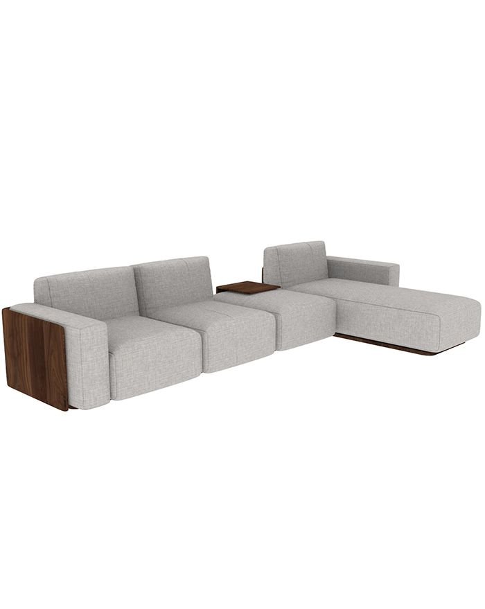 Muster Sofa Walnut Wood
