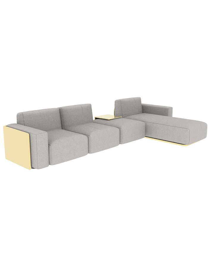 Muster Sofa Gold Wood