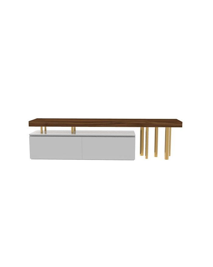 Brassy TV Unit